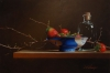 Still Life with Strawberries and Blue Bowl                             by Mark Thompson
